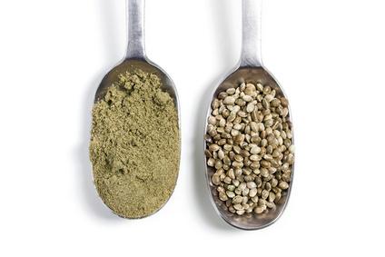 hemp powder and seeds